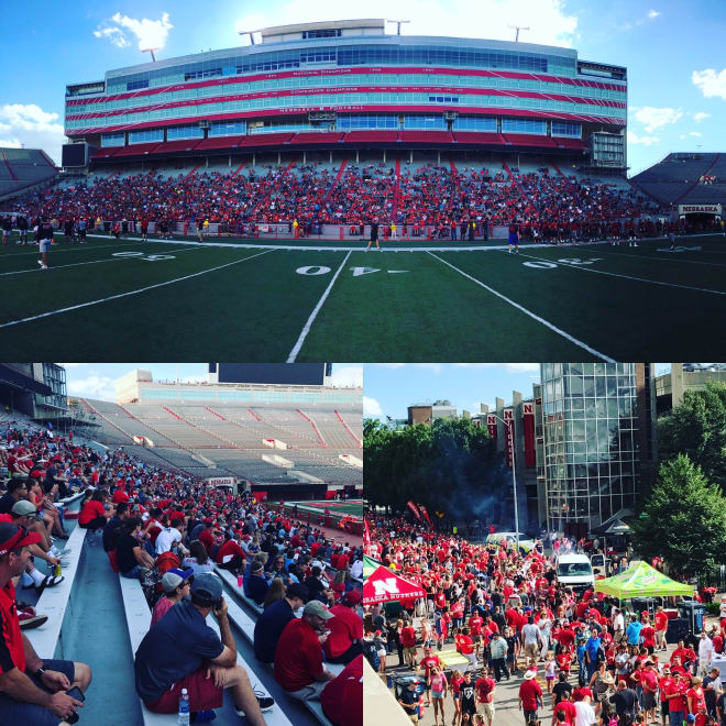 Nearly 7,000 fans attended Nebraska's Friday Lights Camp in Memorial Stadium.