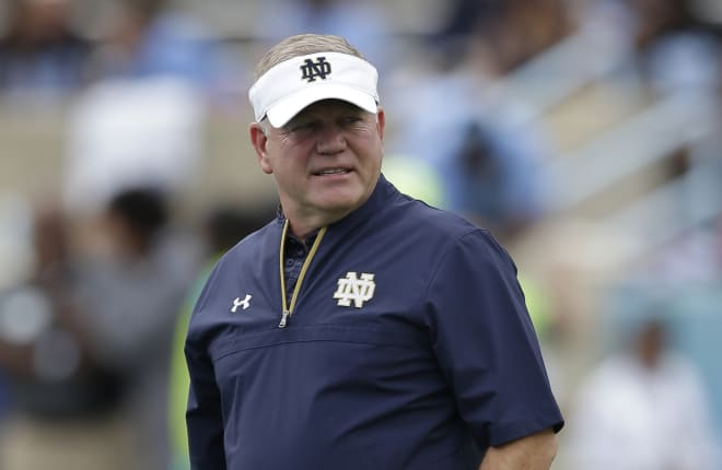 Notre Dame football head coach Brian Kelly