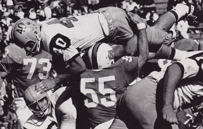 Chris Hanburger was one of the last outstanding two-way players in college football and was also a great pro.