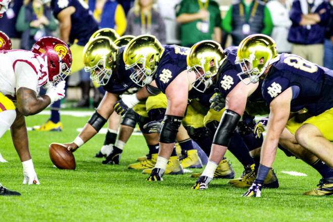 Notre Dame Wins Joe Moore Award For Nation's Best Offensive Line