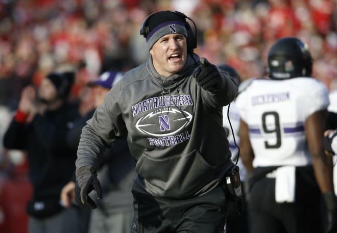 Head coach Pat Fitzgerald