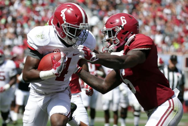 Hurts struggles in Alabama Spring Game