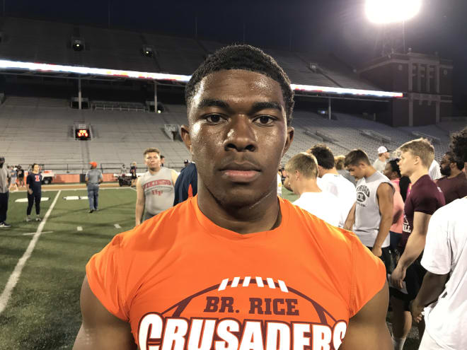 Class of 2021 running back Willie Shaw enjoyed his Notre Dame visit and talking with the Irish coaches.