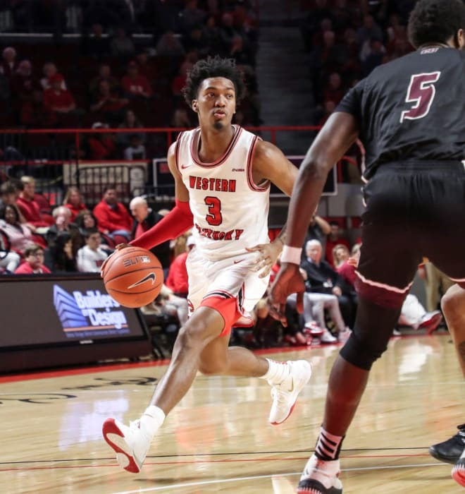 Western Kentucky faces No. 2 Louisville on Friday afternoon at Bridgestone Arena in Nashville.