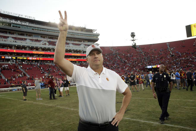 Trojansports Usc Announces Clay Helton Will Remain As Head