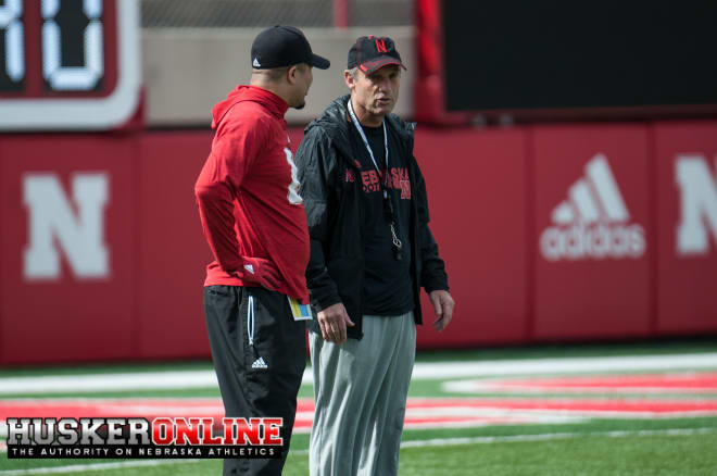 DB Coach Donte Williams and Mike Riley