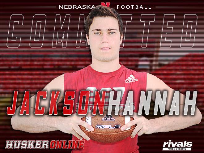 2019 Rivals250 linebacker Jackson Hannah announced his commitment to Nebraska on Wednesday.