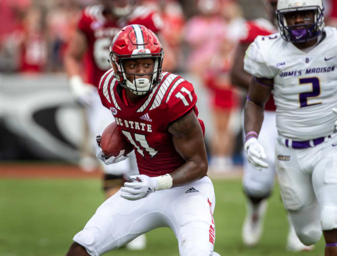 NC State redshirt junior wide receiver Jakobi Meyers will be a game-time decision Saturday against Georgia State.