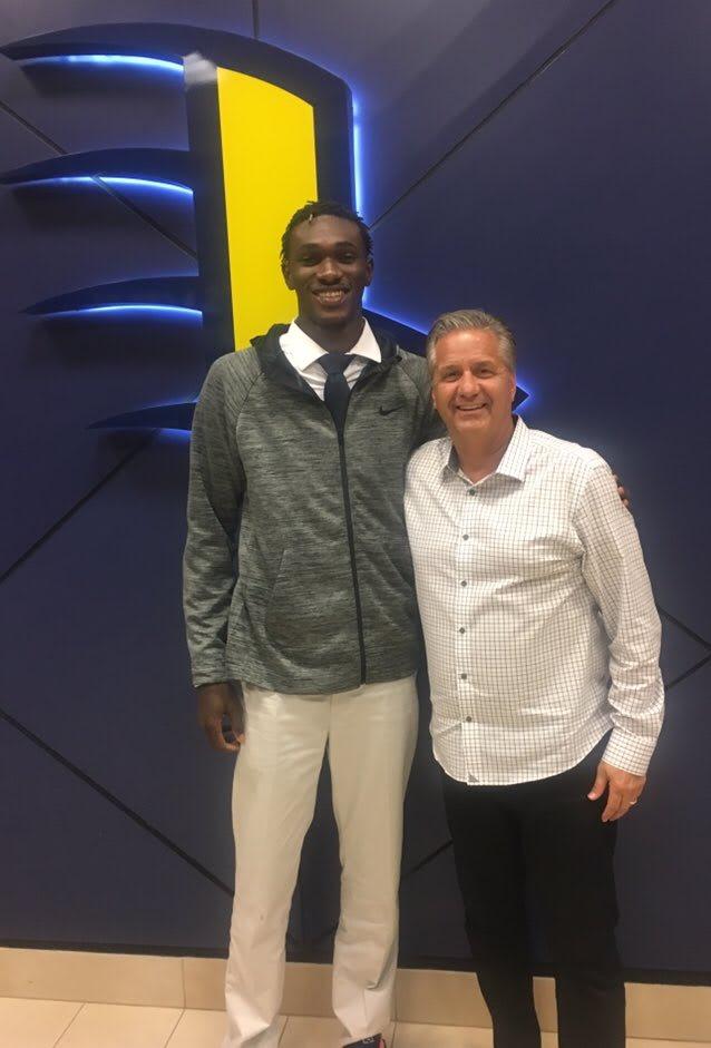 John Calipari visited Moussa Cisse on Tuesday