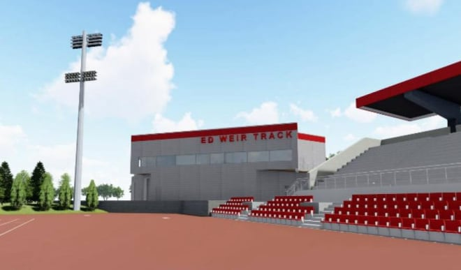 The hope is the new track facility will be built to host both Big Ten and NCAA outdoor championship events.