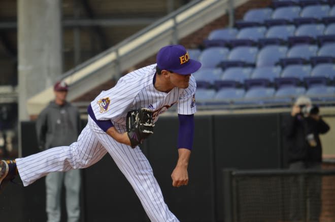 Left hander Jake Agnos bounced back on Wednesday to lead ECU to a 5-2 home victory over Charleston.