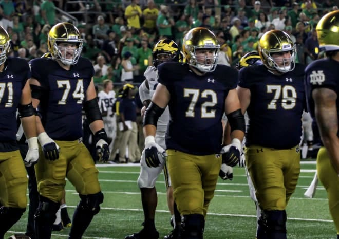 Liam Eichenberg (74), Robert Haines (72) and Tommy Kraemer (72) all return as starters along the 2019 offensive line — and could in 2020 as well.
