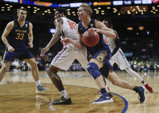 Notre Dame stuns Virginia Tech in ACC tourney