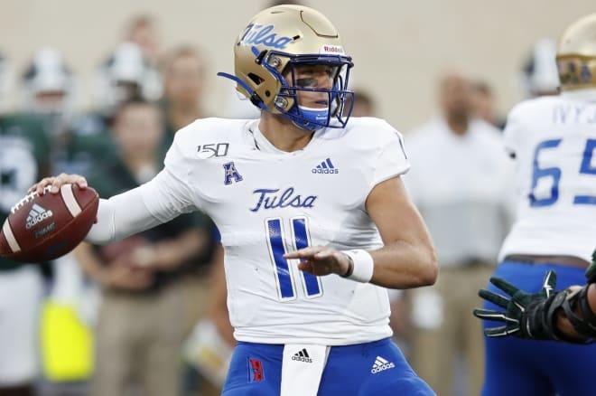 Tulsa quarterback Zach Smith