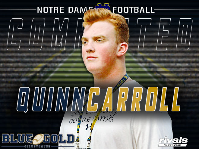 Four-star offensive lineman Quinn Carroll latest to join Notre Dame's 2019 class
