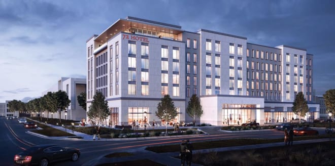 A 155-room Marriott hotel will also be built on Nebraska Innovation Campus complete with a restaurant, rooftop bar and coffee shop.