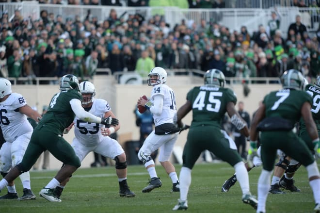 Hackenberg and the Lions ended the regular season with a tough loss at Michigan State.
