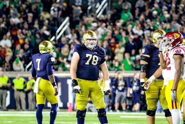 Notre Dame fifth-year senior guard Tommy Kraemer