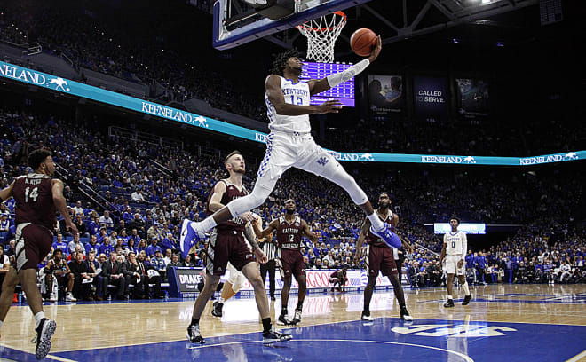 Kentucky freshman forward Keion Brooks Jr. soared for a reverse layup in the first half.