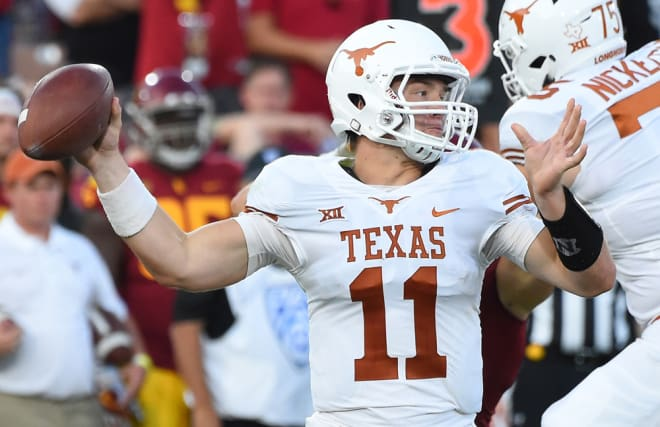 Sights from the Longhorns' 42-27 victory over the Jayhawks