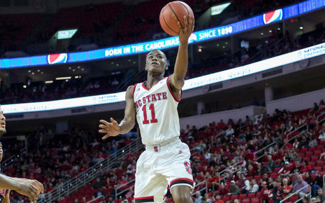 NC State senior point guard Markell Johnson returned to the floor, and had three points, seven rebounds and 10 assists in the Wolfpack's 84-65 win over Detroit Mercy on Sunday.