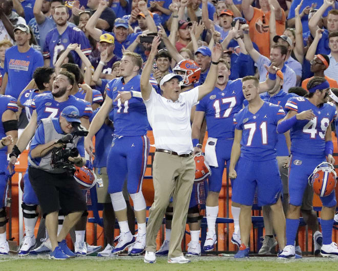 Florida coach Dan Mullen has heated argument with Vanderbilt's Derek Mason