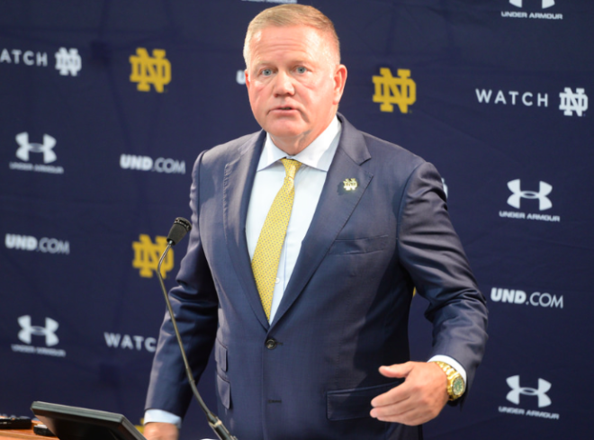 Notre Dame's Brian Kelly on expectations: 'We know where the bar is'