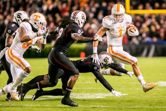 """Tennessee is a great program and I like what coach Pruitt is doing there."""" Alabama, Clemson, Louisville, Mississippi State and Nebraska are schools that Story listed that he now plans to take."""