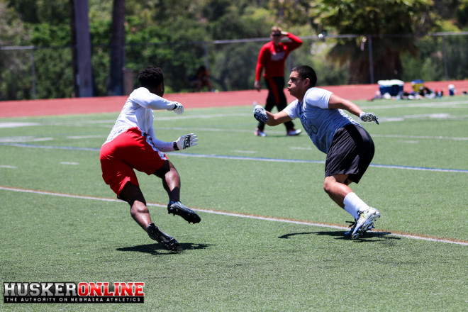 2018 Rivals100 RB TJ Pledger during one-on-ones
