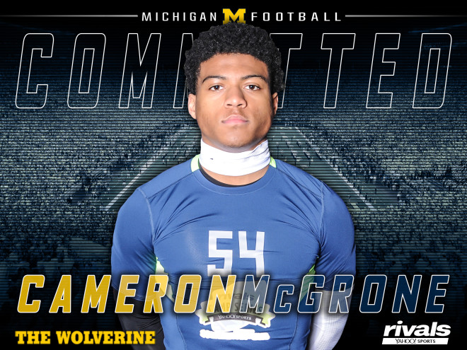 MI lands commitment from four-star LB Cameron McGrone