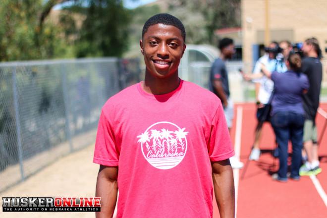 "WR Jamire Calvin was also wearing a ""Calibraska"" t-shirt at the camp"