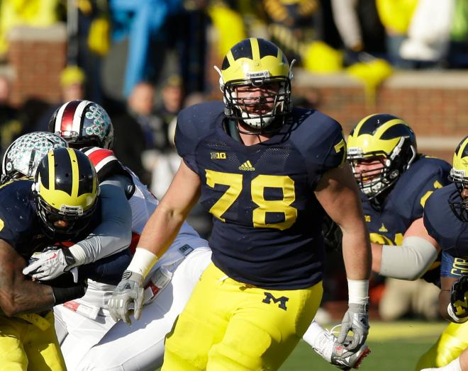 Erik Magnuson will once again pave the way for Michigan's power offense this season.