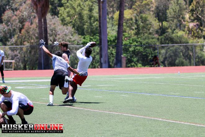 RB TJ Pladger makes the catch