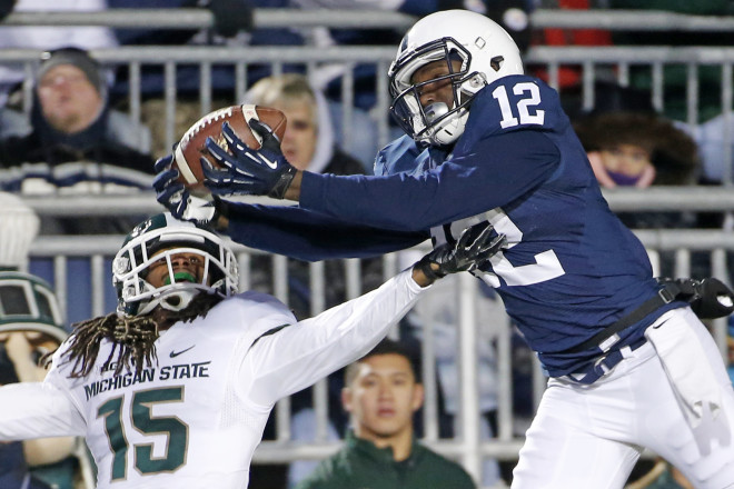 Penn State's Chris Godwin returns as one of the Big Ten's best wide receivers this season.