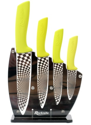 Lime Green Ceramic Kitchen Knife Set