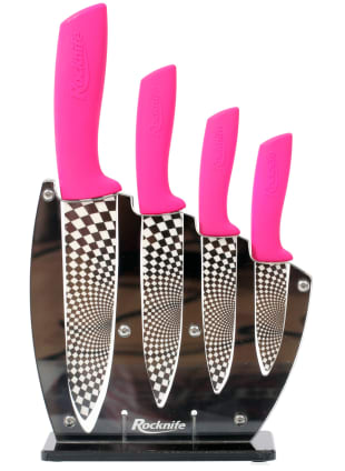 Pink Ceramic Kitchen Knife Set