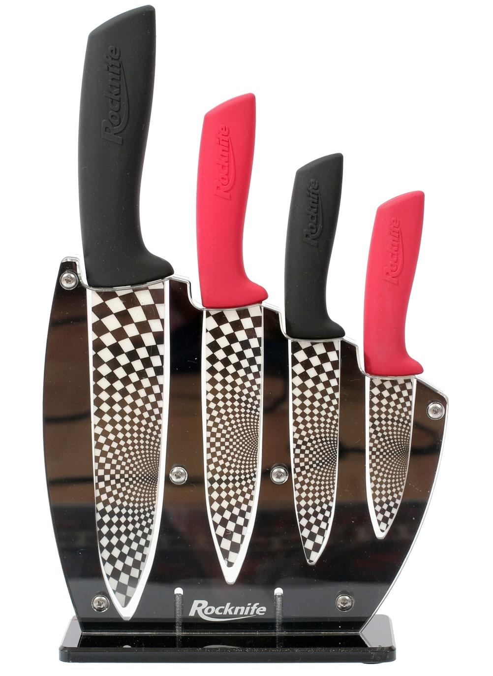 Red And Black Ceramic Kitchen Knife Sets