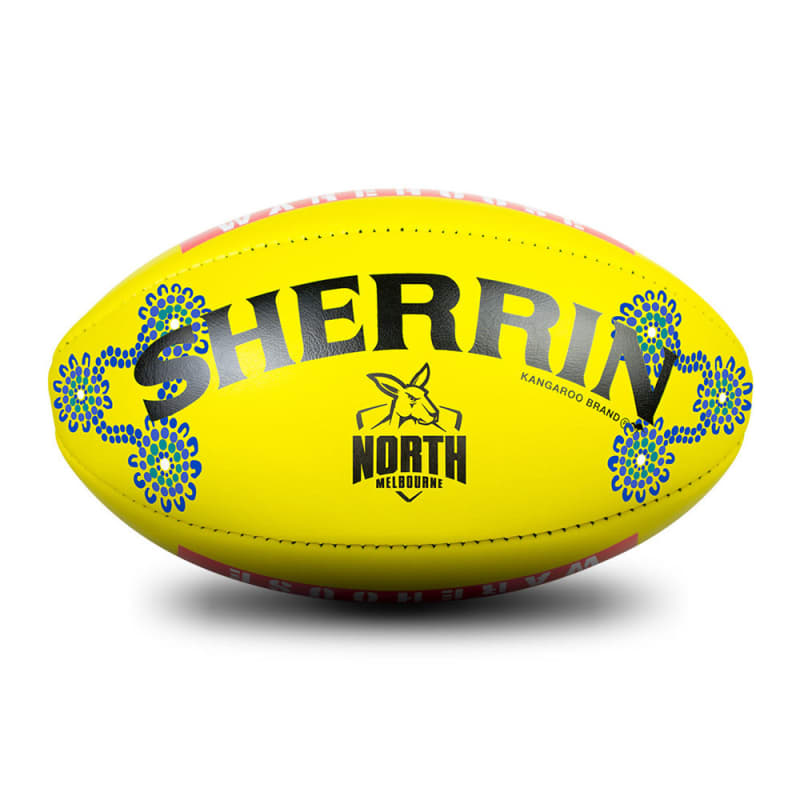 2019 Sir Doug Nicholls Round Game Ball - North Melbourne