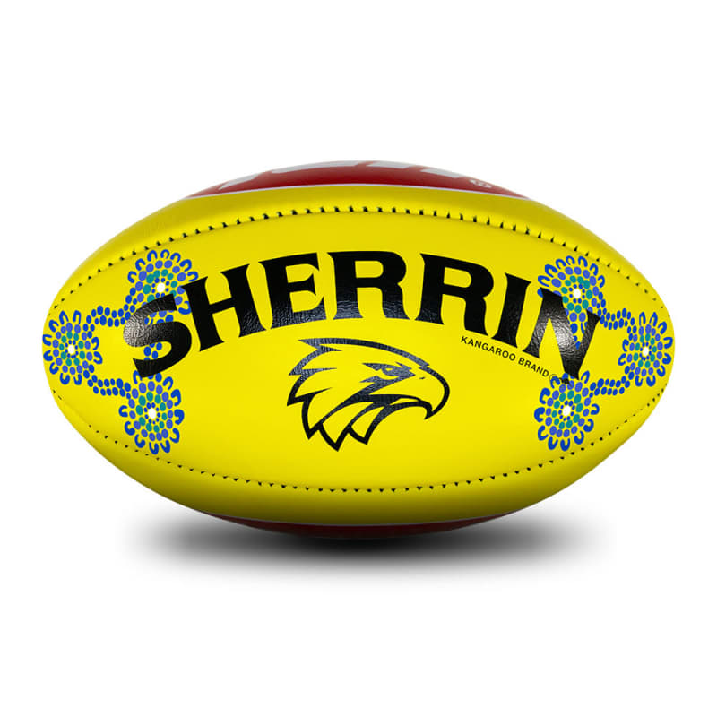 2019 Sir Doug Nicholls Round Game Ball - West Coast Eagles