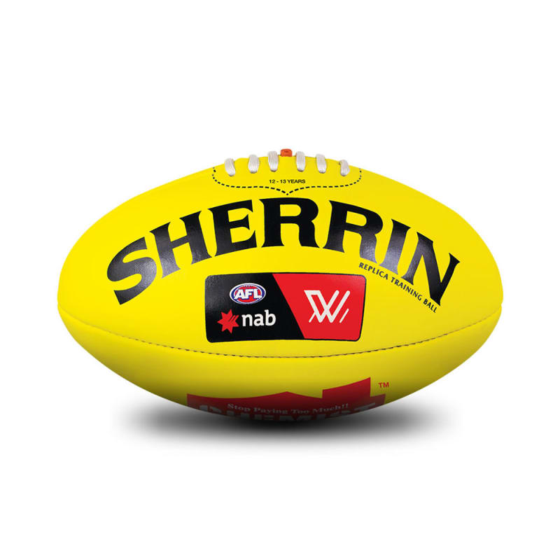 AFLW Replica Training Ball - Yellow - Size 3