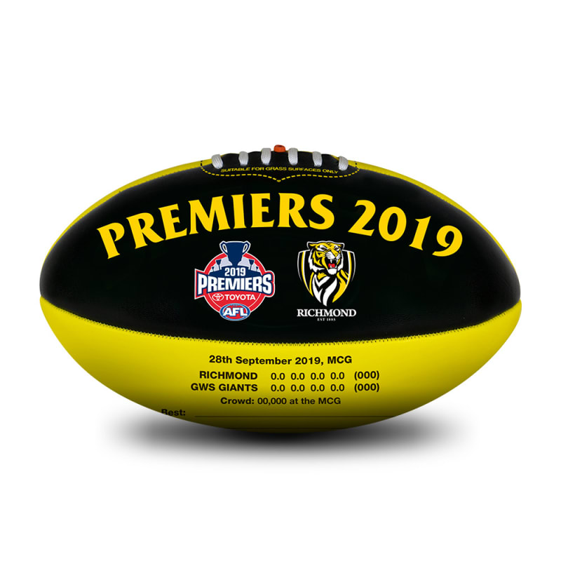 2019 Richmond Tigers Premiers Ball - Size 3