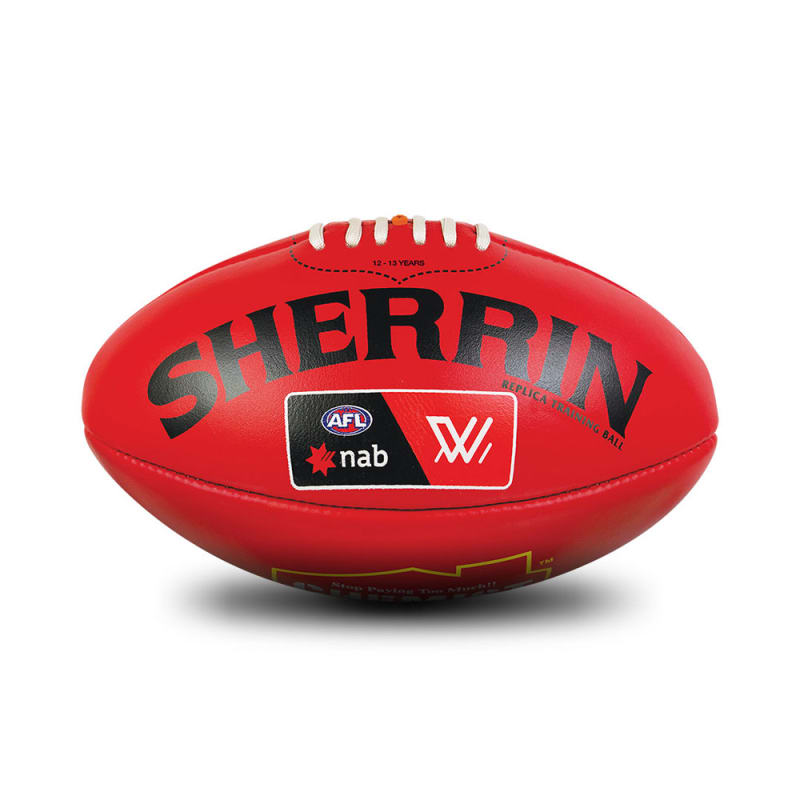 AFLW Replica Training Ball - Red - Size 3