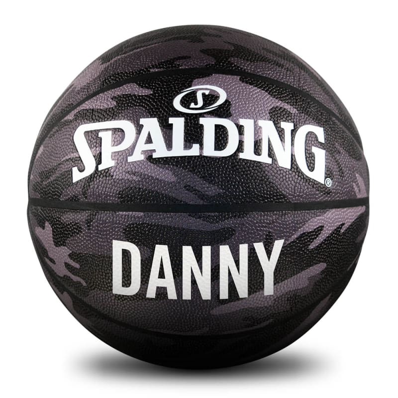Personalised Basketball - Black Camo