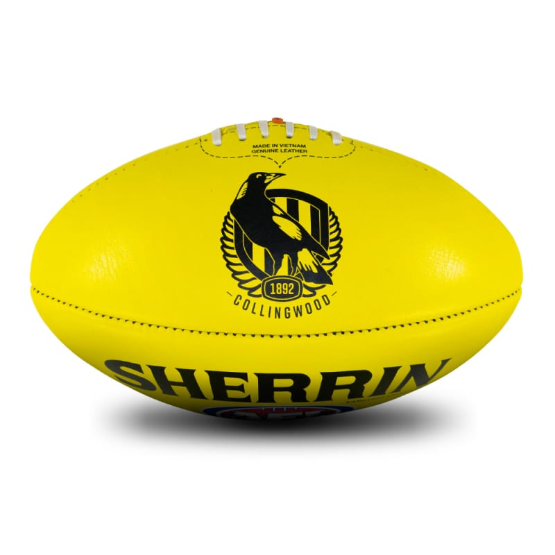 AFL Team Leather Ball - Collingwood