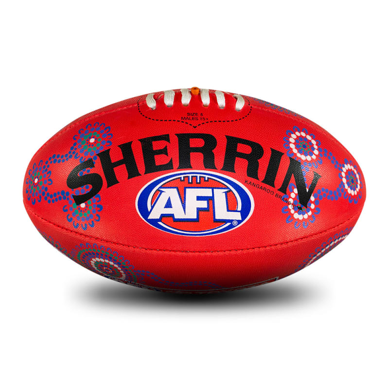 2021 Sir Doug Nicholls Round Rubber Ball - Red