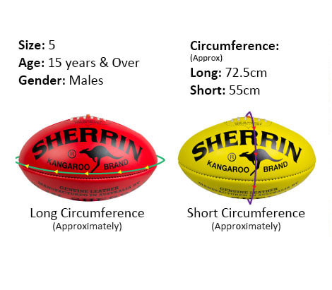 Size 5 game ball specs