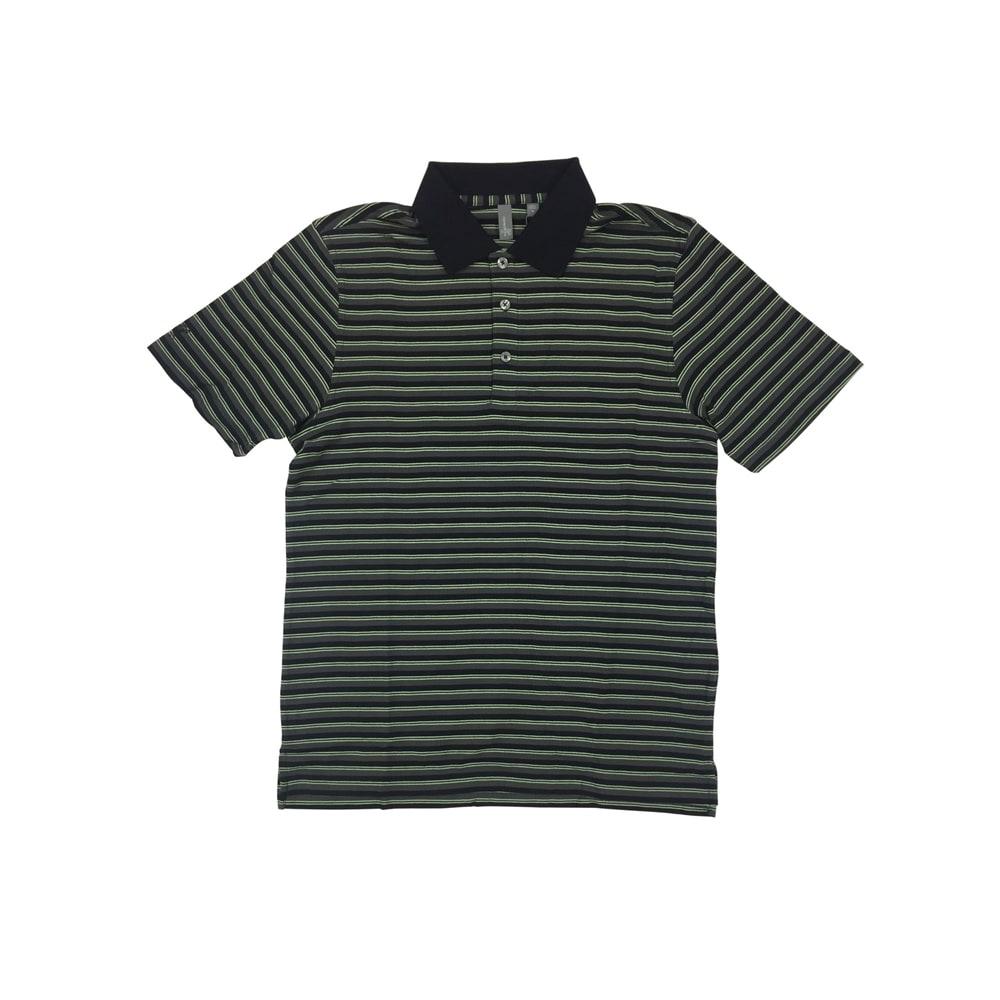 Ashworth Golf Mens Black   Green Stripe Polo Shirt - Black Medium - The  Sports HQ 7dc892b6fefc