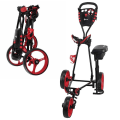 Ram Golf X-Pro Laser 3 Wheel Golf Pull Cart / Trolley with Seat