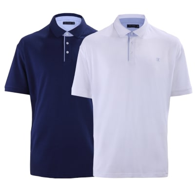 Ciro Citterio Cotton Pique Polo Shirts - 2 Pack