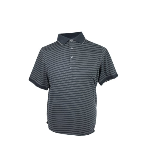 Ashworth Bold Striped Polo w/Trim